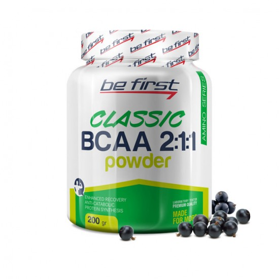 BE FIRST BCAA Powder 2:1:1 200 г, Черная Смородина