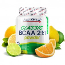 BE FIRST BCAA Powder 2:1:1 200 г, Цитрусовый микс