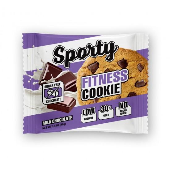SPORTY Fitness печенье 40г (молочный шоколад)