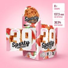 SPORTY Fitness печенье 70г, Клубника со сливками
