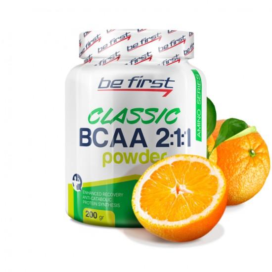 BE FIRST BCAA Powder 2:1:1 200 г, Апельсин