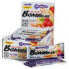 Bombbar Протеиновый батончик 60г, Малиновый чизкейк