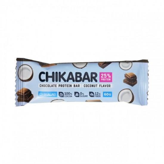 CHIKALAB Протеиновый батончик CHIKABAR 60г, Кокос