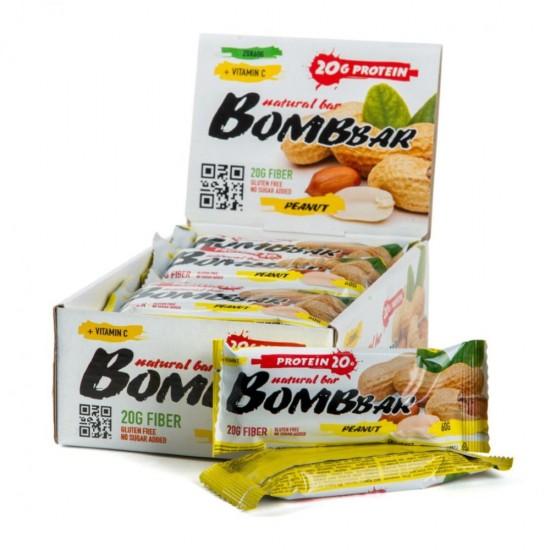 Bombbar Протеиновый батончик 60г, арахис