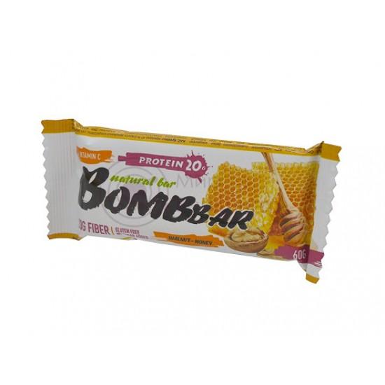 Bombbar Протеиновый батончик 60г, грецкий орех с медом