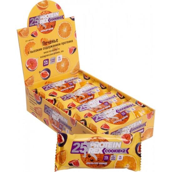 ProteinRex Протеиновое печенье 50 g, Апельсин-Инжир