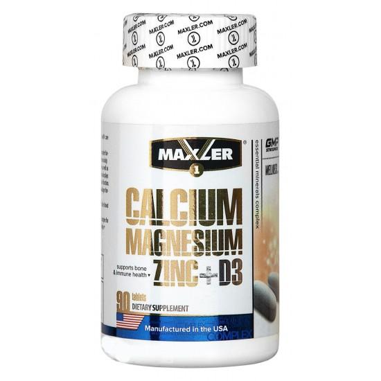Maxler Сalcium Magnesium Zinc+D3 90 таб