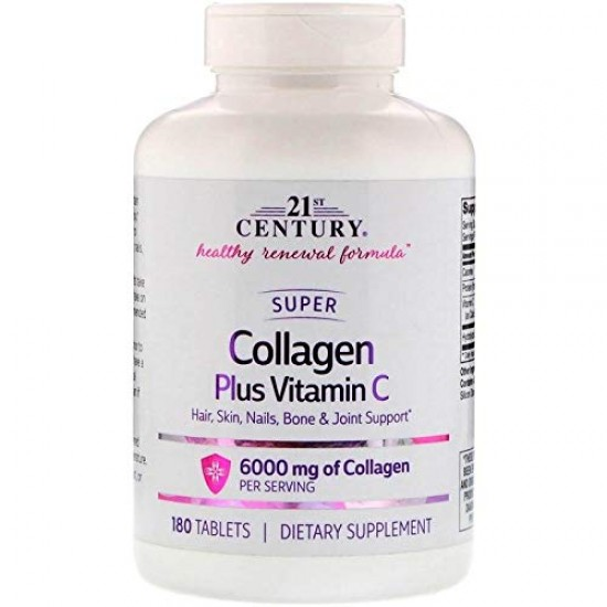 21ST CENTURY Collagen Plus Vitamin C 180 табл