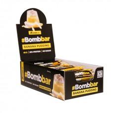 Bombbar Протеиновый батончик глазированный 40г, Банановый пудинг