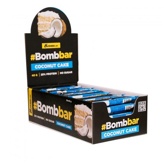 Bombbar Протеиновый батончик глазированный 40г, Кокос