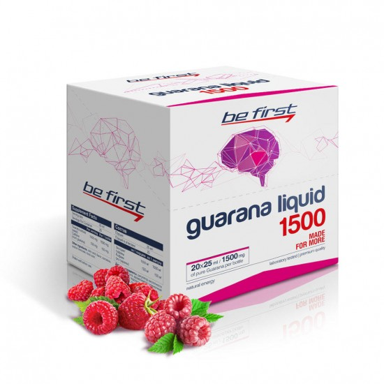 BE FIRST Guarana liquid 1500 25мл, Малина