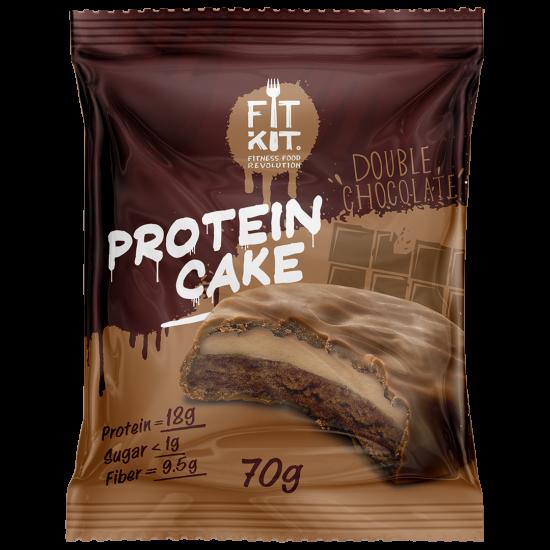 FIT KIT PROTEIN CAKE 70гр, Шоколад-кофе