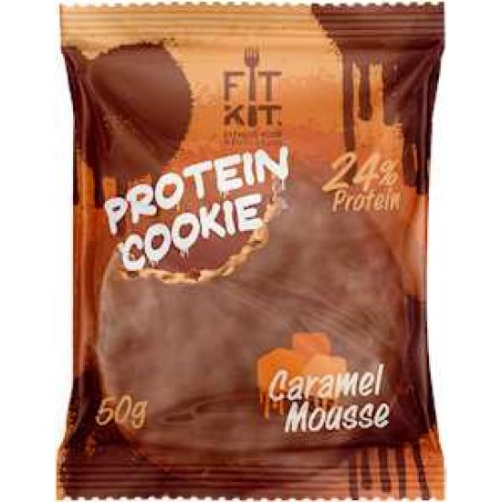 FIT KIT Protein Cookie 50гр, Карамельный мусс