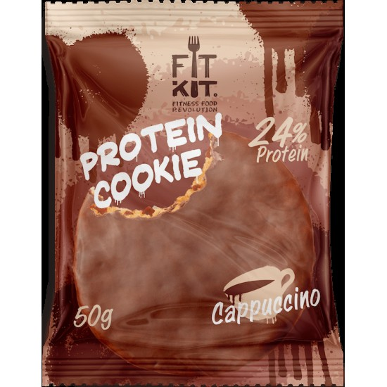 FIT KIT Protein Cookie 50гр, Капучино