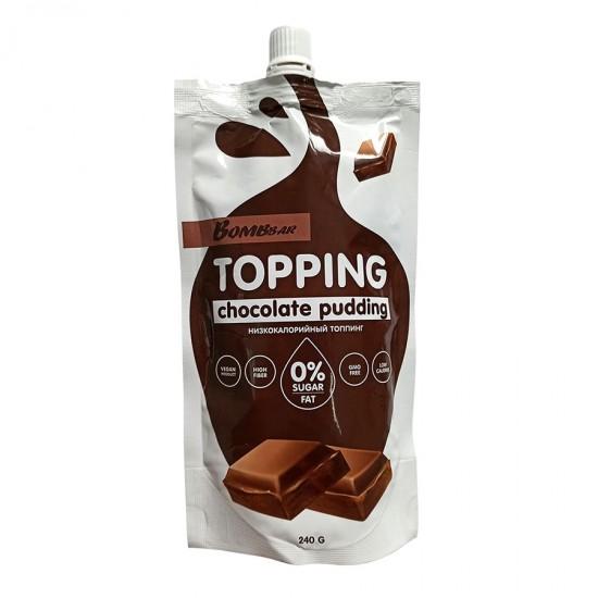 Bombbar Низкокалорийный топпинг 240г, Шоколадный пудинг