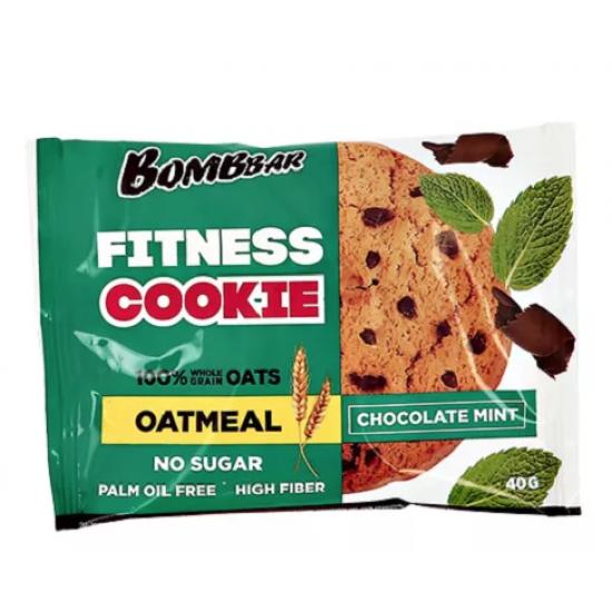 BOMBBAR Печенье овсяное 40г, Шоколад-мята