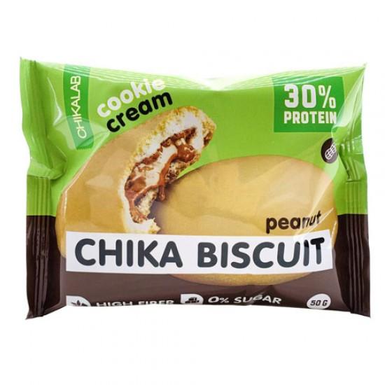 CHIKALAB Печенье неглазированное с начинкой 50 гр, Бисквит арахисовый
