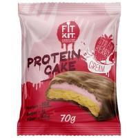 FIT KIT PROTEIN CAKE 70гр, Клубника со сливками