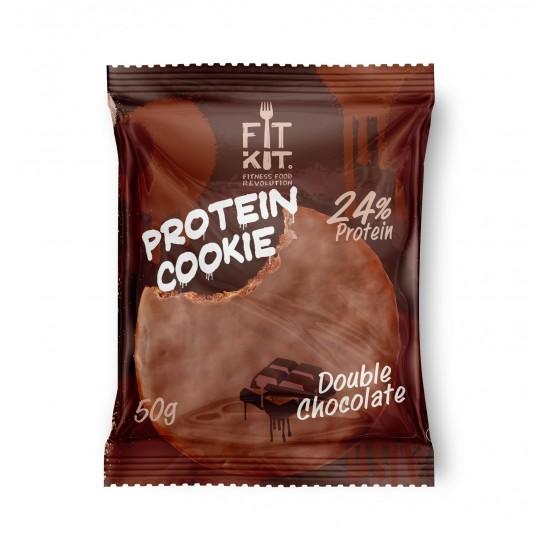 FIT KIT Protein Cookie 50гр, Двойной шоколад