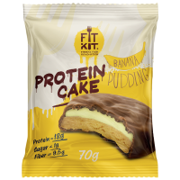 FIT KIT PROTEIN CAKE 70гр, Банановый пудинг