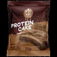 FIT KIT PROTEIN CAKE 70гр, Двойной шоколад