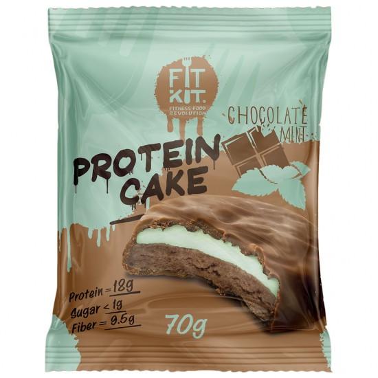 FIT KIT PROTEIN CAKE 70гр, Шоколад-мята