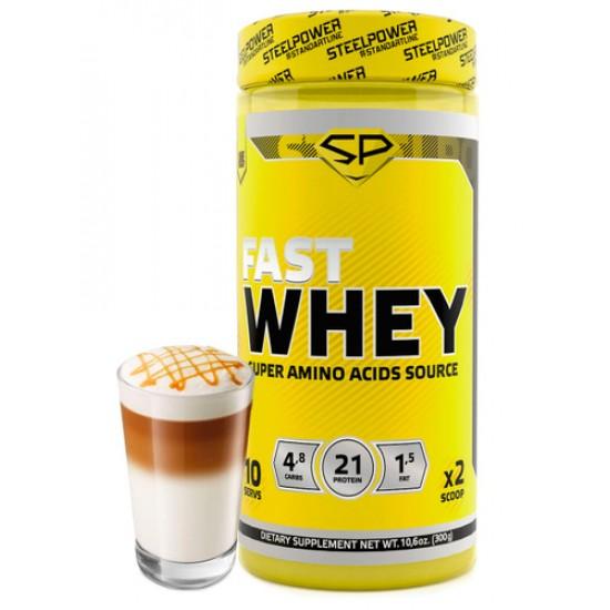 STEEL POWER Fast Whey Protein 300г, Кофе Латте