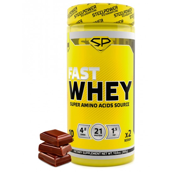 STEEL POWER Fast Whey Protein 300г, Сливочный шоколад