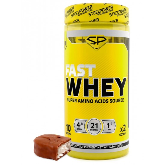 STEEL POWER Fast Whey Protein 300г, Шоколад кокос