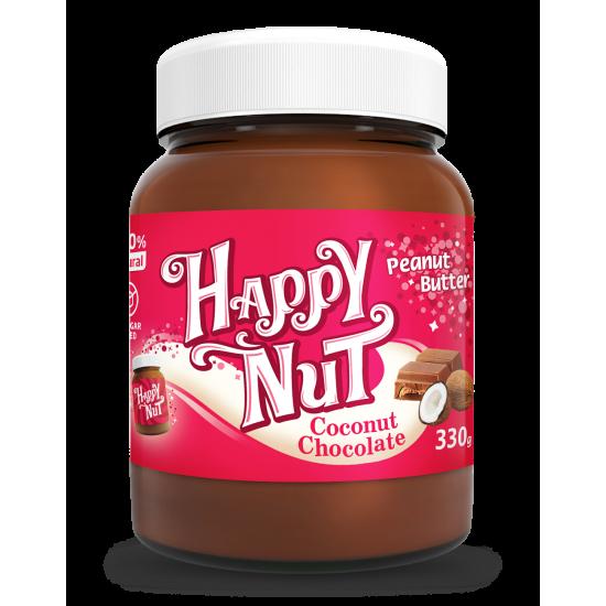 Арахисовая паста Happy Nut шоколадный кранч 330г