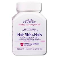 21ST CENTURY Hair, Skin & Nails 90 tab
