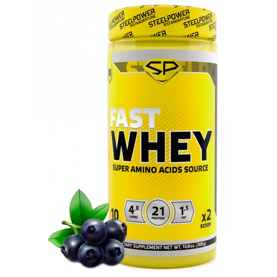 STEEL POWER Fast Whey Protein 300г, Черника