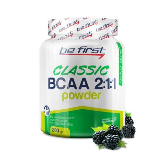 BE FIRST BCAA Powder 2:1:1 200 г, Ежевика