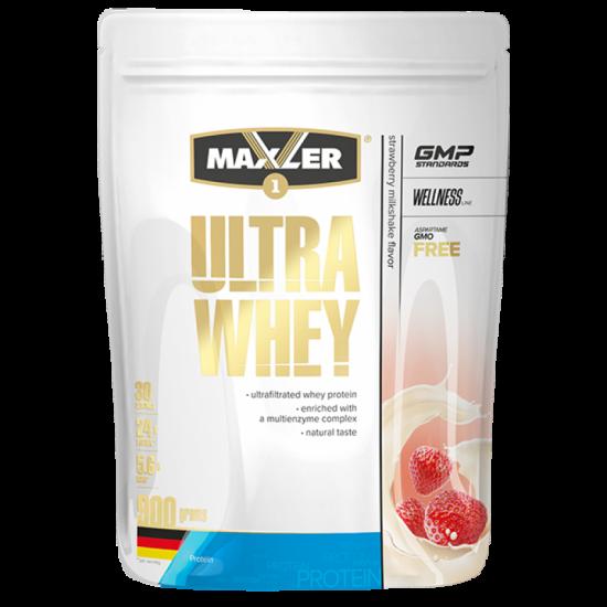 MAXLER ULTRA WHEY 900г, Белый шоколад с клубникой