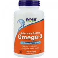 NOW Omega-3 1000 mg 200 кап,