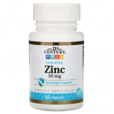 21ST CENTURY Zinc Chelated 50mg 60 табл