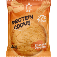 FIT KIT Protein Cookie 40гр, Арахис-карамель