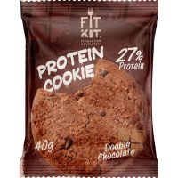 FIT KIT Protein Cookie 40гр, Двойной шоколад