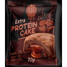 FIT KIT Extra PROTEIN CAKE 70гр, Тройной шоколад