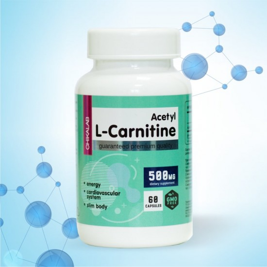 CHIKALAB Acetyl L-Carnitine 500мг 60капс,
