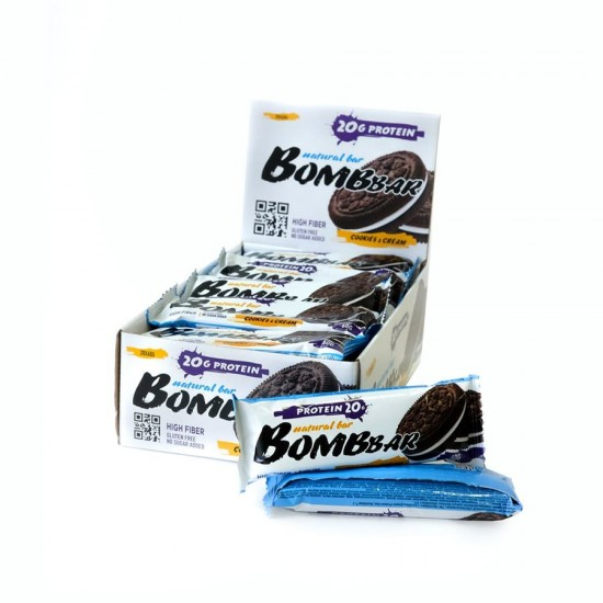 Bombbar Протеиновый батончик 60г, Печенье-крем