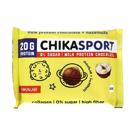 CHIKALAB Молочный шоколад с фундуком, 100г