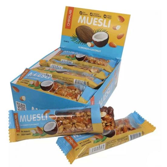 CHIKALAB MUESLI 40г, Миндальный с кокосом