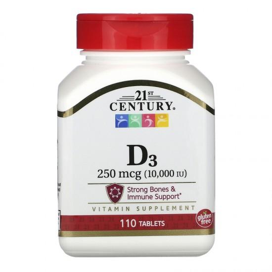 21ST CENTURY D3 10000 IU 110 табл