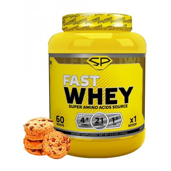 STEEL POWER Fast Whey Protein 900г, Имбирное печенье