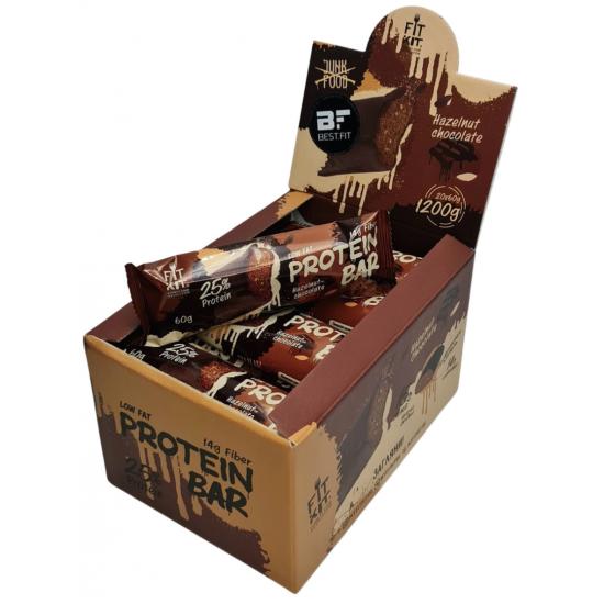 FIT KIT Protein Bar 60г, Шоколад-фундук