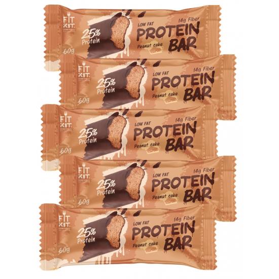 FIT KIT Protein Bar 60г, Арахисовый торт