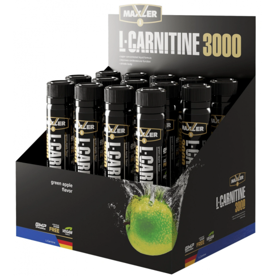 MAXLER L-CARNITINE 3000 25мл, Зеленое яблоко