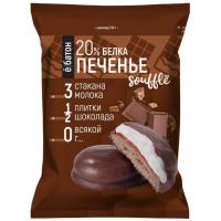 Протеиновое печенье ё батон с суфле, 50г, Шоколад