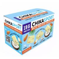 CHIKALAB Белый шоколад с миндалем и кокосовыми чипсами, 100г